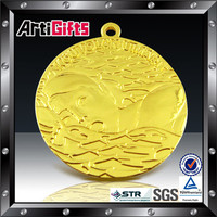 Wholesale souvenir 3d customized hockey ball match metal sport medal medallion