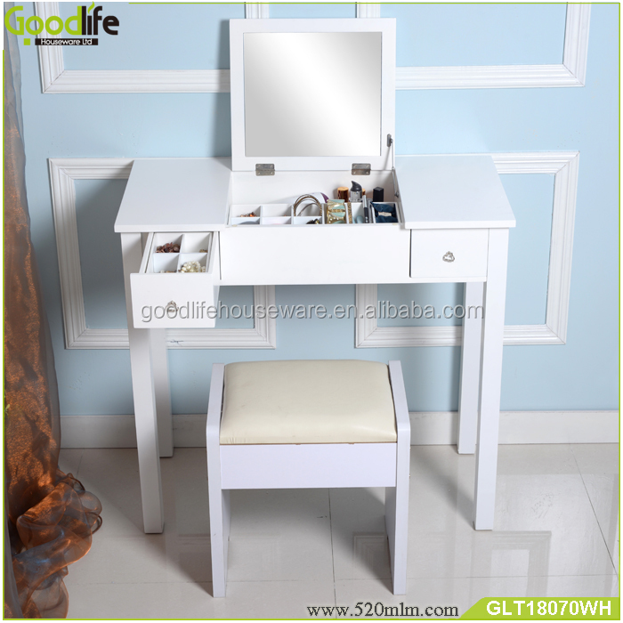 Pretty wood makeup vanity dressing table