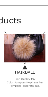 STABILE 2017 Multifunctional animal tail faux fur with high quality