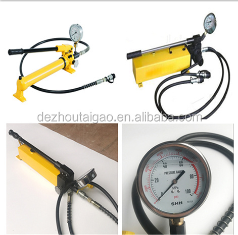 China famous brand small hand operated hydraulic oil pump with hydraulic hose
