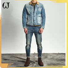 L8000#guangzhou clothing Fall And Winter Men Ancient Denim Coat retro plus size Heavy Wash Montage Men jean Jacket