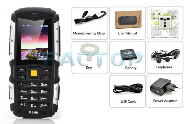 China durable cheapest 2.0 inch IP67 waterproof MTK6225 FM cellphone with WiFi Bluetooth