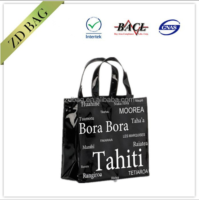 wholesale high quality pvc shopping bag with magnet button