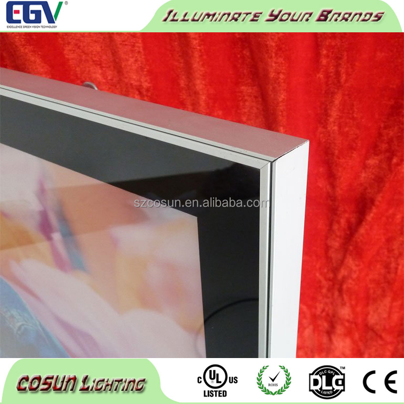 A2 Edgelight super slim magnetic picture frame led light box/ led magnetic light frame