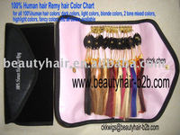 100% Natural Human hair Remy Hair Color Ring Color Chart Color Swatch