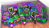Cheer Amusement Toddler Area Soft Play Amusement Park Soft Playground Indoor for kids