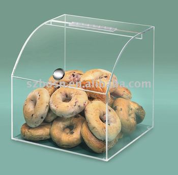 Clear Acrylic Bakery Case/Perspex Bread Box/Acrylic Cookies Display