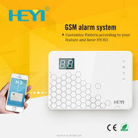 one auto call GSM wireless alarm system Android and IOS phone display