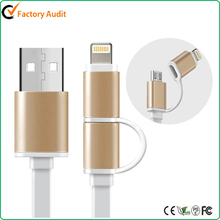 2 in 1 8pin and micro USB Flat Cable