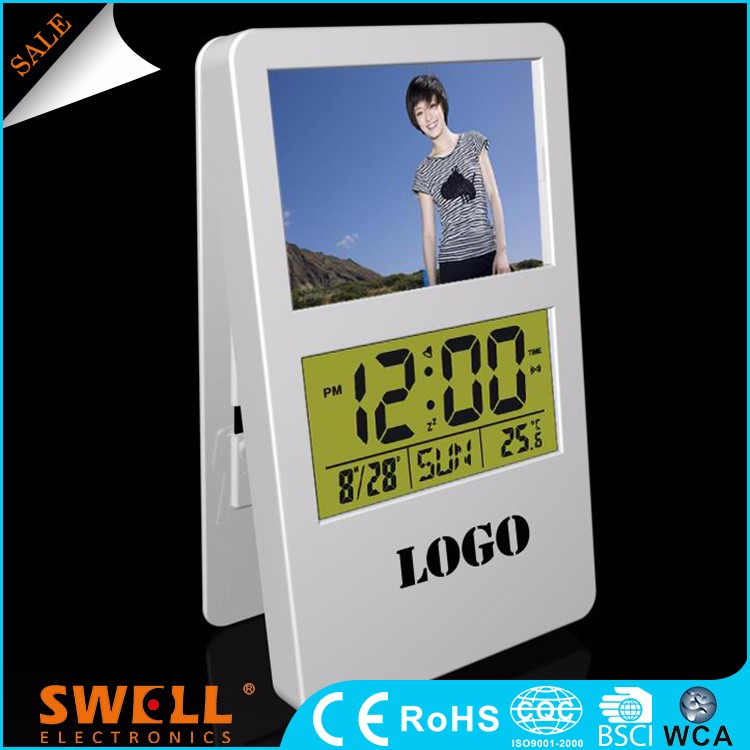 buy rectangle clip countdown clock , kitchen clock timer factory with photoframe