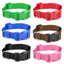 Best Promotion New Pink S Nylon Pet Dog Cat Puppy Adjustable Spring Buckle Lead Collars New Arrival