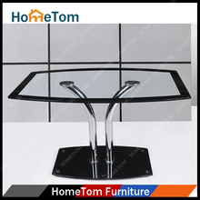 2016 On Sale Black Broder Tempered Glass top with 12mm Glass Base Dining Table Buffet
