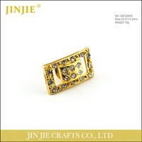 Square China Wholesale Channel Brooch Rhinestone