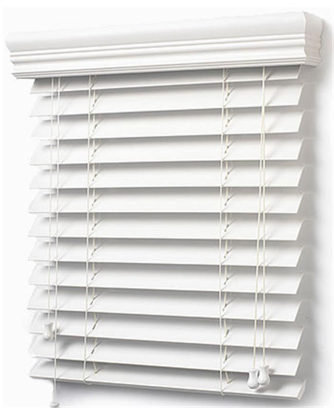 China Cheap PVC Faux Wood Blinds White/PVC Curtain/ Wooden Shutters