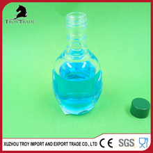wholesale 60ml empty clean round glass bottle of white wine bottle