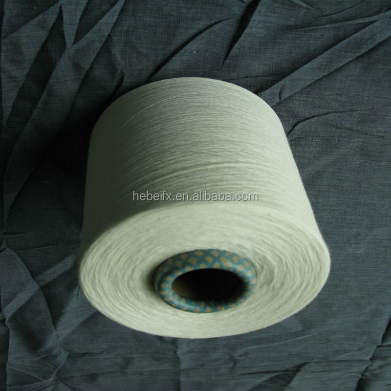 Good Manufacturers Supply Polyester Spun Yarn Raw Colour Close Virgin White 100% Spun Polyester Yarn 30/1