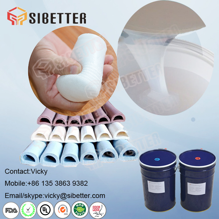 Transparent Liquid Foaming Silicone Rubber for Silicone Foam Tubes