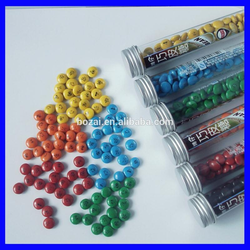 color soft chocalate candy in bottle