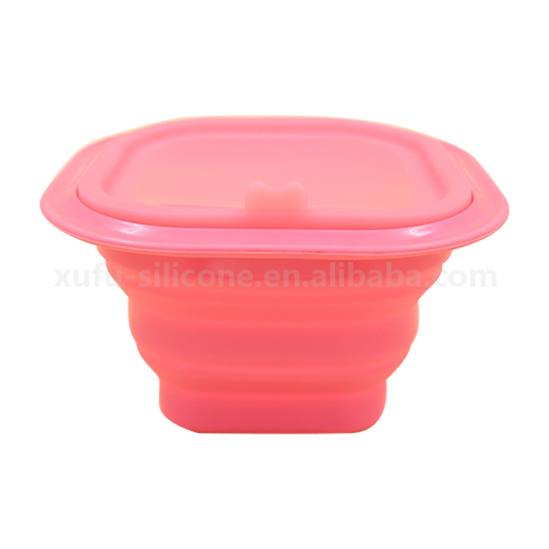 Collapsible Silicone Mixing Bowl Camping Folding Bowl in Custom Logos