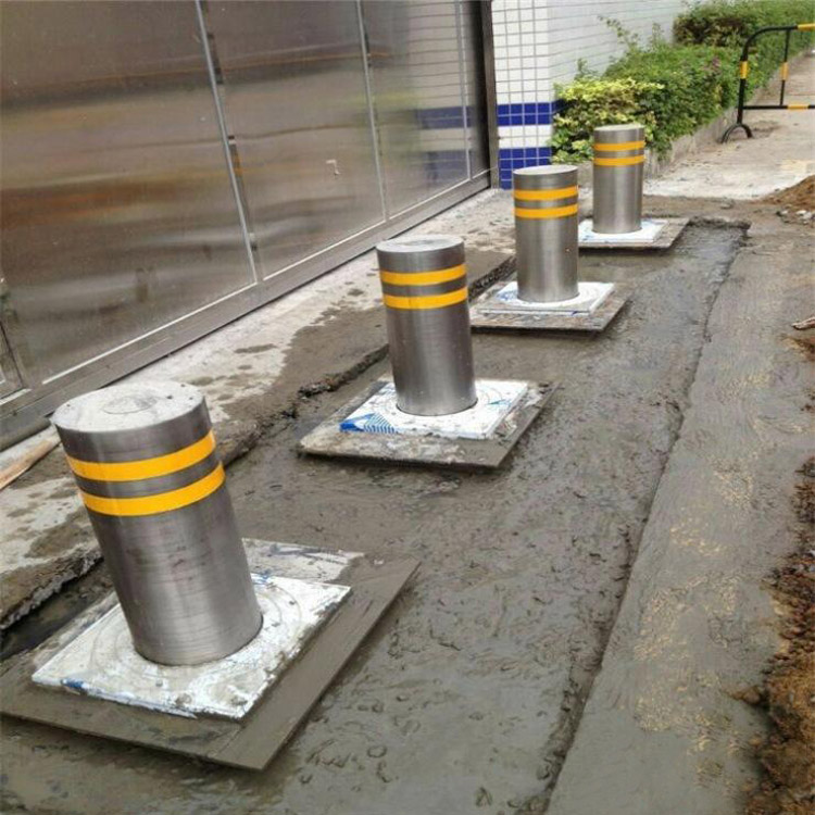 automatic rising bollard 304 stainless steel hydraulic rising bollards