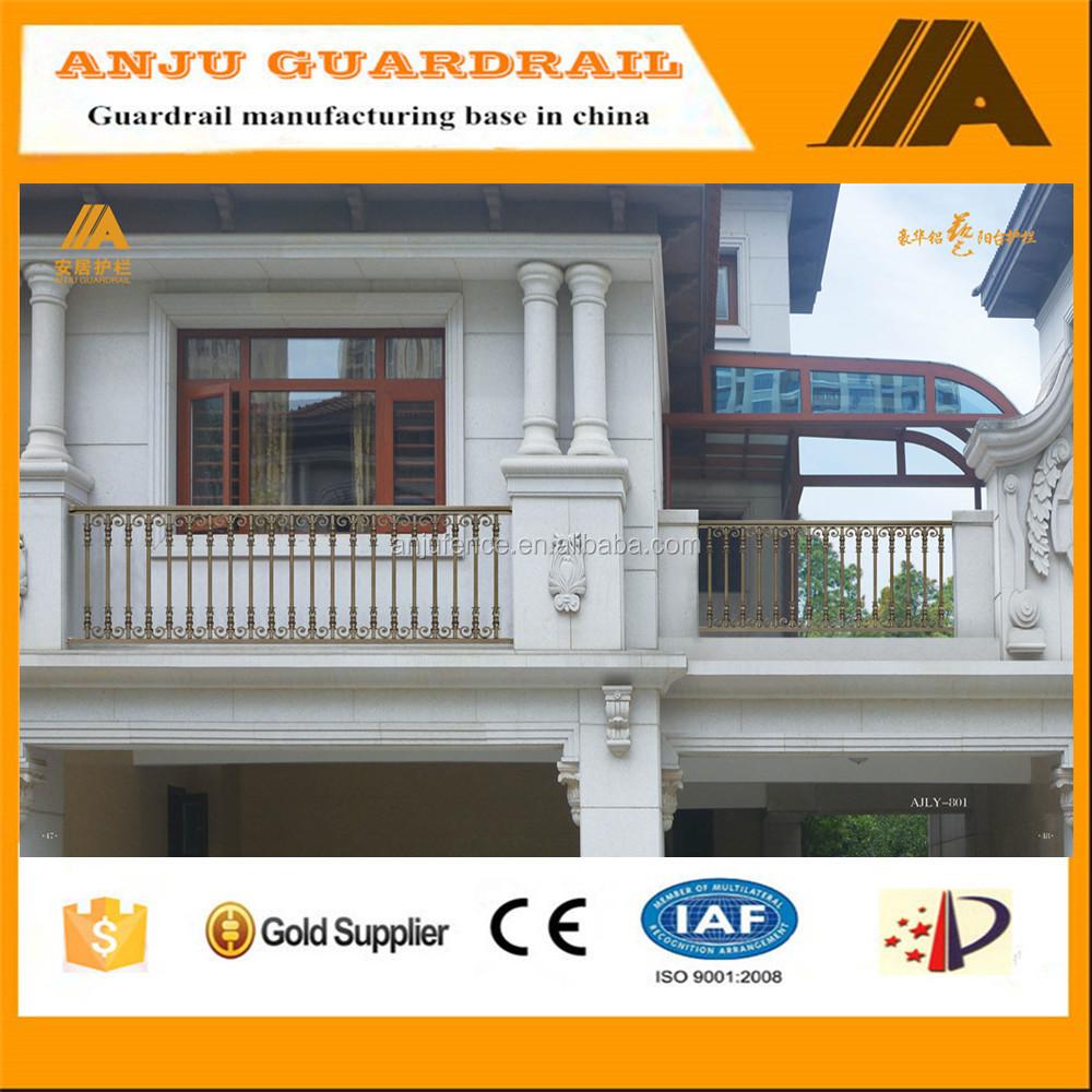 Veranda european style aluminum balcony railing ajly