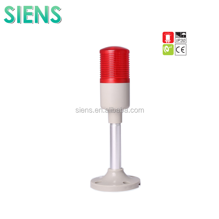 IP30 flash LED warning traffic signal tower light with 85dB Buzzer