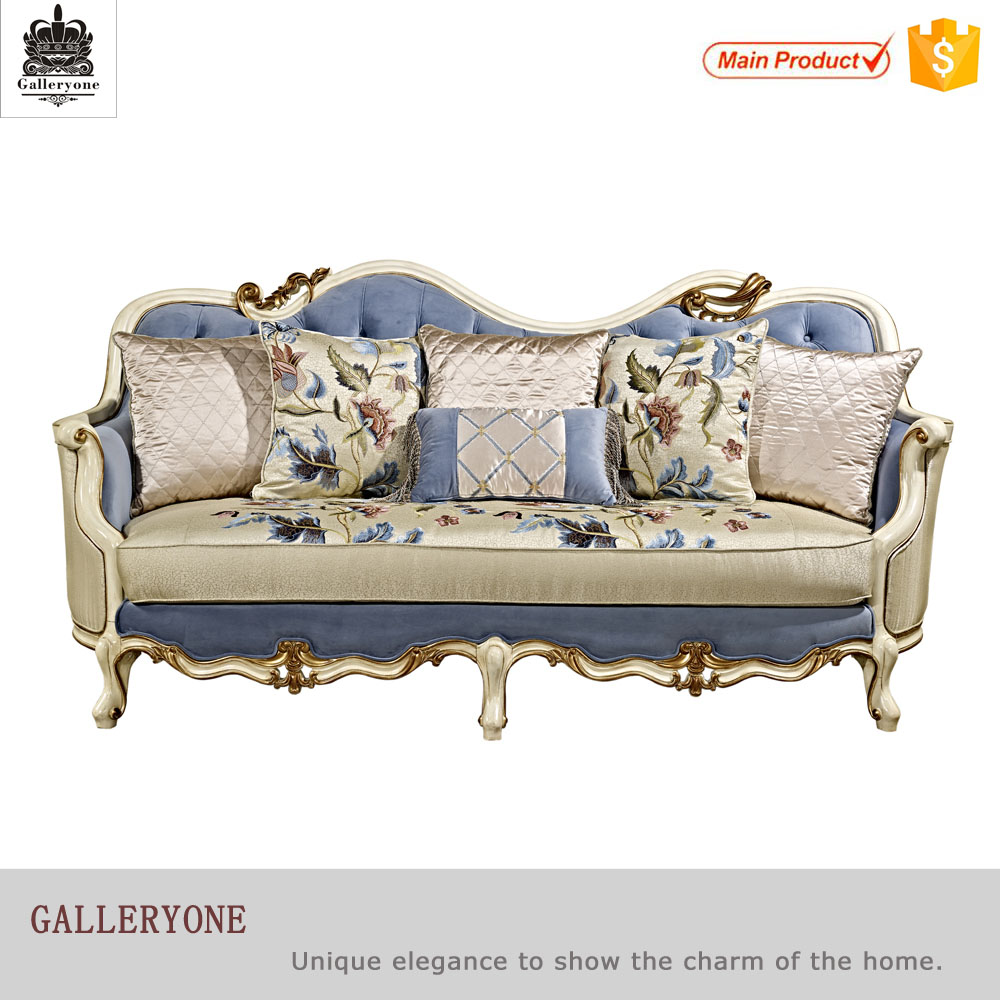 China manufacturer antique european style luxury furniture fabric sofa