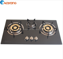 Tempered glass top gas stove 3 burner
