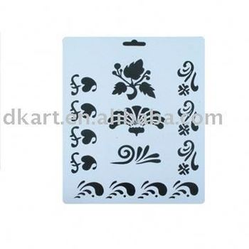 Pvc Laser cutting hollow out stencils template for craft/painting/drawing on wall/wood/glass/furniture