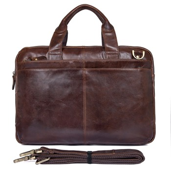 J.M.D Leather Men's Laptop Bag Handbag Briefcase Messenger Bag 7092-2C