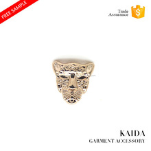 KAIDA Exquisite design Leopard head small size shank custom metal button for jeans