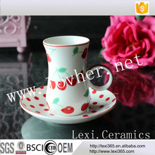 2017New Stylish Turkish Tea Cup Saucer Set,Ceramic Cofee Cup And Saucer For Afternoon Tea,Party,Celebration