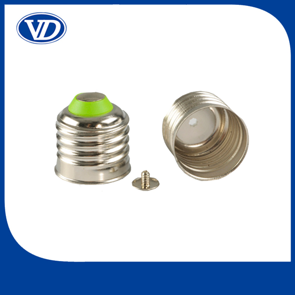 E27 welding copper plated nickel E27 led lamp cap