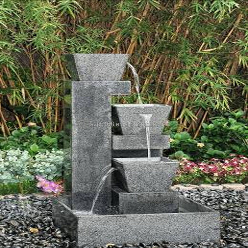 Modern Art Customized Stone Water Fountain Sculpture Water Fountain For Garden Decoration