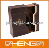 Best Sell factory customized Stand leather wine box with wine accessories (ZDS-F386)