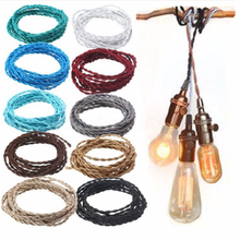 Vintage Edison bulb Accessories Color Braided Fabric Wire fabric electrical cable with E26/E27 lamp holder/socket/base