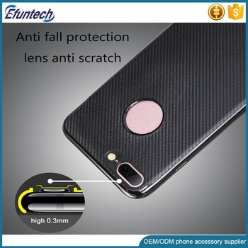 2017 new products popular carbon fiber phone case for huawei honor enjoy 6s, soft tpu simple case for huawei enjoy 5x