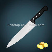 "High quality professional stainless steel blade 10"" Narrow kitchen Bread knife with POM handle"