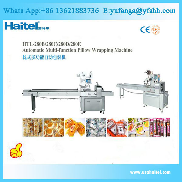 Customized candy biscuit packaging machine for food processing factory