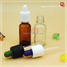 Essential Oil Industrial Use and Dropper Sealing Type Hot selling 30ml glass e liquid dropper bottles with pipette and black cap