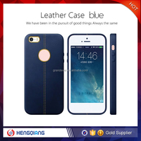 Free samples full protective PU leather for iphone 6 case