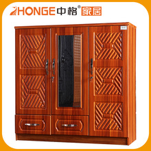 Modern Wooden Door Double Color Wardrobe Design Furniture Bedroom