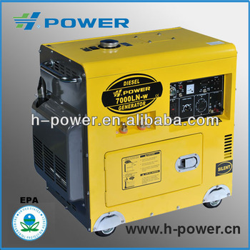 Hot seller!!5KW silent type Diesel Generator & Welder with 24L fuel tank
