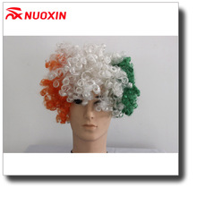 NX high quality Ireland flag football fans afro wigs for decoration