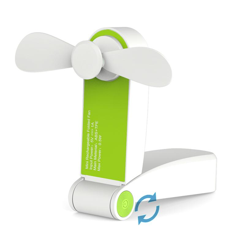 Foldable Rechargeable Portable USB Handheld Mini Cooling <strong>Fan</strong> for Office and Travel