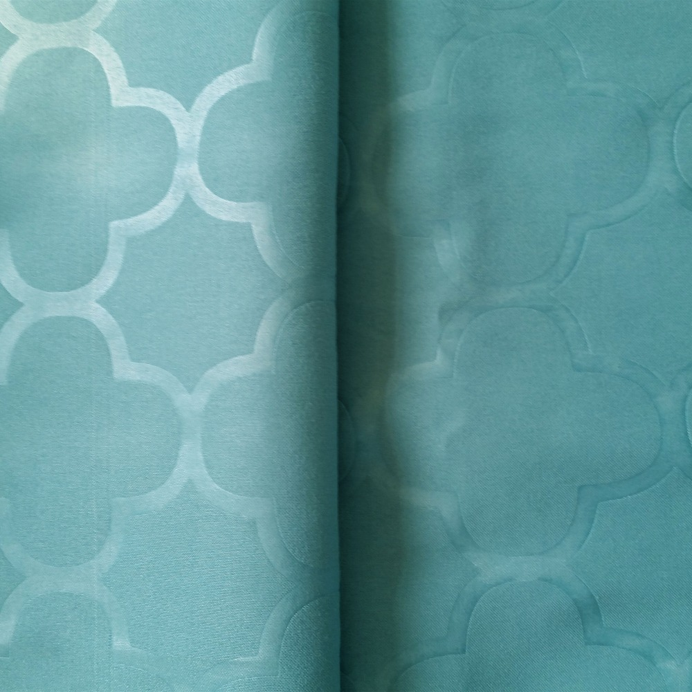 100% Polyester plain dyed embossed fabric for home textile