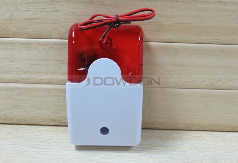 12V Mini Indoor Red light Flash Home Security Alarm System 110dB
