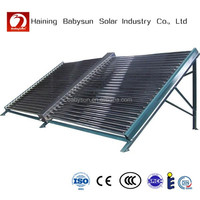 new product China made non pressure 500L vacuum tube solar water heater collector, solar manifold