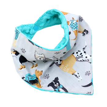 China manufacturer custom design super soft minky baby boy bib