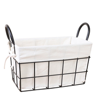 Metal wire basket organizer storage iron basket